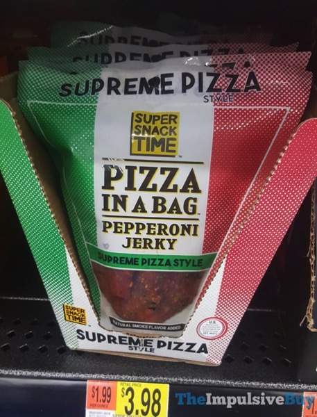 Super Snack Time Pizza in a Bag Supreme Pizza Style Peperoni Jerky