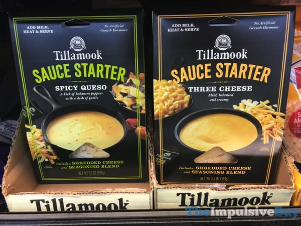 Tillamook Sauce Starter  Spicy Queso and Three Cheese
