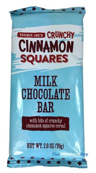 Trader Joe s Crunchy Cinnamon Squares Milk Chocolate Bar