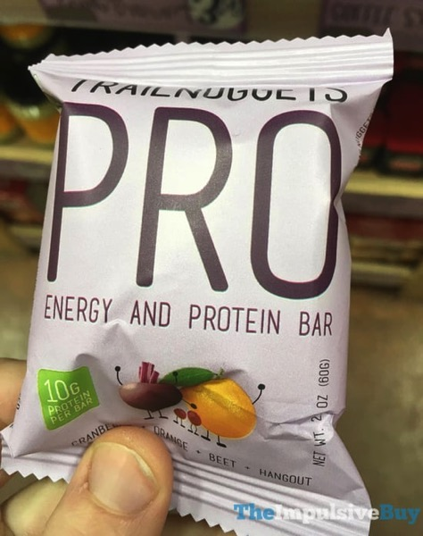 Trailnuggets PRO Cranberry Orange Beet Energy and Protein Bar