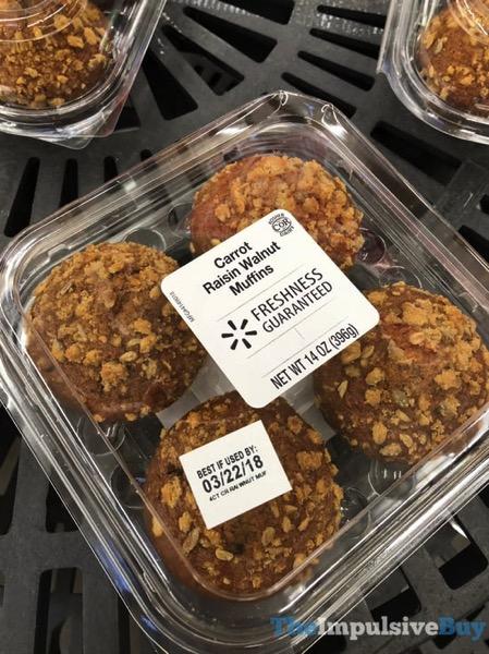 Walmart Carrot Raisin Walnut Muffins