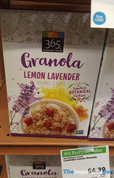 365 Everyday Value Limited Botanical Edition Lemon Lavender Granola