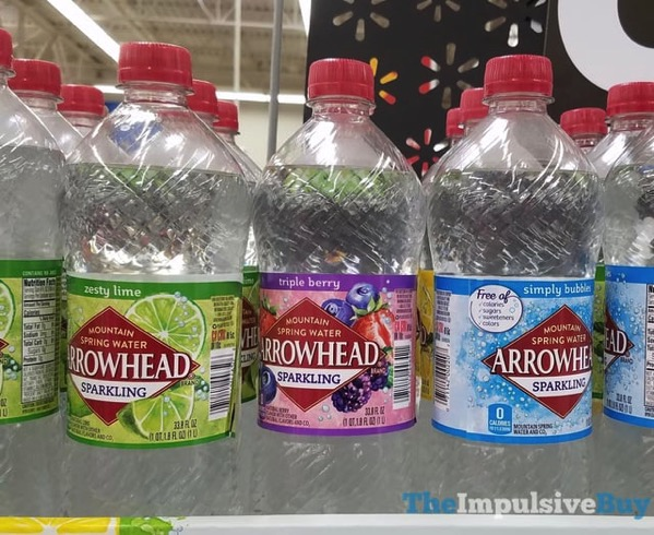 Arrowhead Sparkling  Zesty Lime Triple Berry and Simply Bubbles