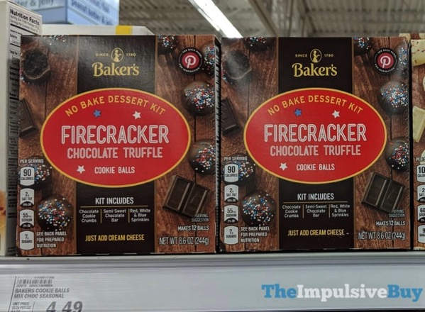 Baker s Firecracker Chocolate Truffle Cookie Balls No Bake Dessert Kit