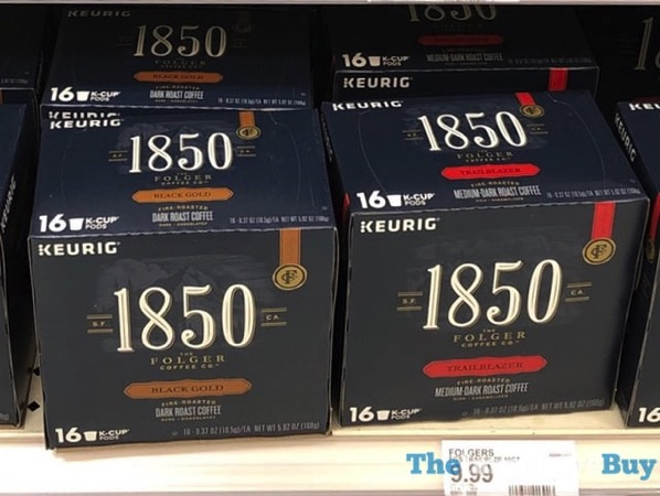 Folgers 1850 Black Gold and Trail Blazer K Cups
