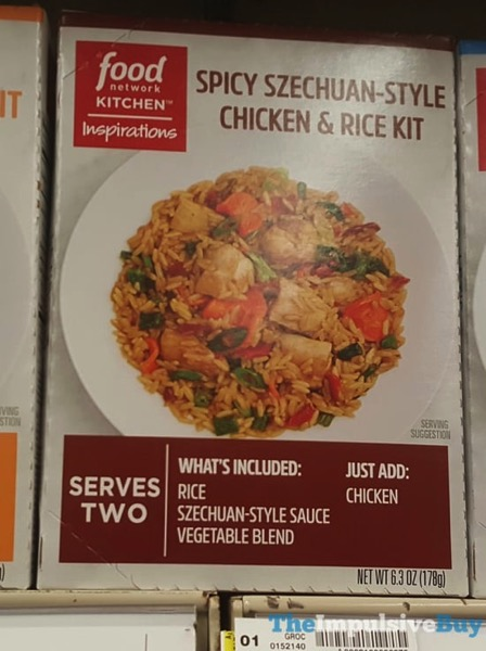 Food Network Kitchen Inspirations Spicy Szechuan Style Chicken  Rice Kit