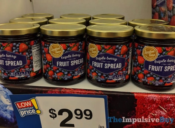 Giant Limited Time Originals Triple Berry Fruit Spread