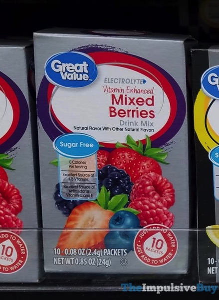 Great Value Electrolyte Vitamin Enhanced Mixed Berries Drink Mix