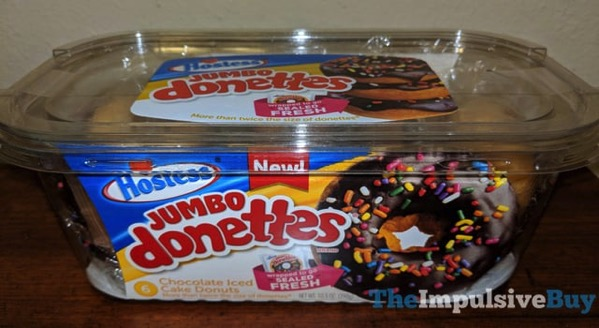 Hostess Jumbo Donettes Chocolate Iced Cake Donuts