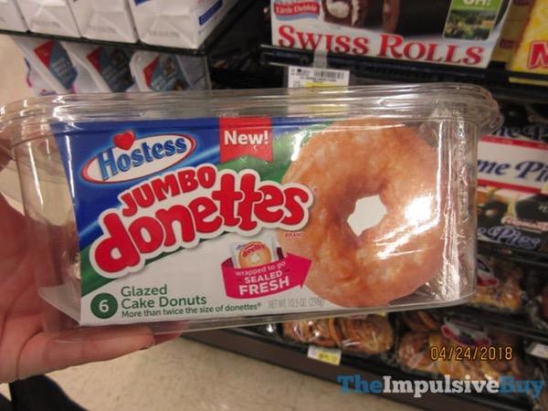 Hostess Jumbo Donettes Glazed Cake Donuts