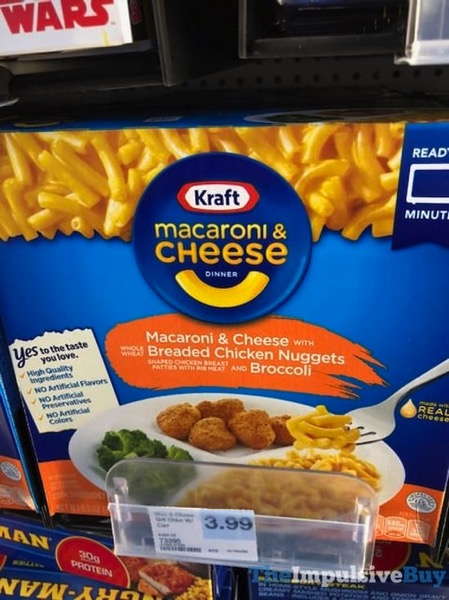 Kraft Macaroni  Cheese with Breaded Chicken Nuggets and Broccoli