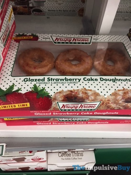 Krispy Kreme Limited Time Glazed Strawberry Cake Doughnuts