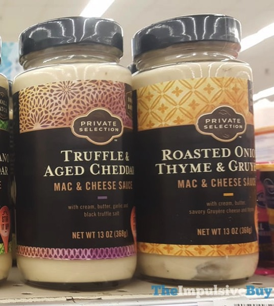 Kroger Private Selection Mac  Cheese Sauce  Truffle  Aged Cheddar and Roasted Onion Thyme  Gruyere