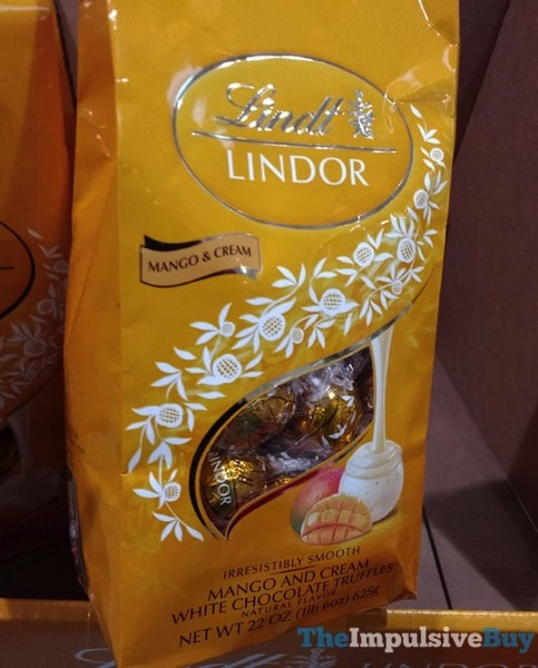 Lindt Lindor Limited Edition Mango  Cream White Chocolate Truffles