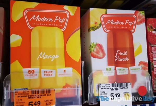 Modern Pop Frozen Fruit Bars  Mango and Fruit Punch