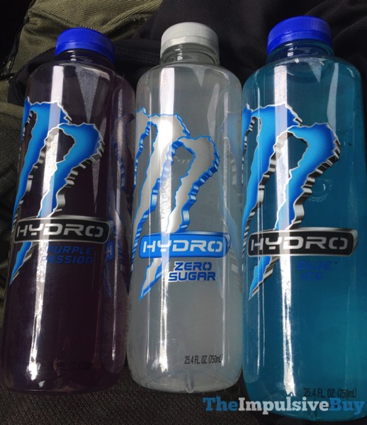 Monster Hydro  Purple Passion Zero Sugar and Blue Ice