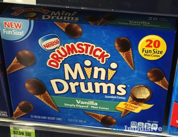 Nestle Drumstick Vanilla Mini Drums