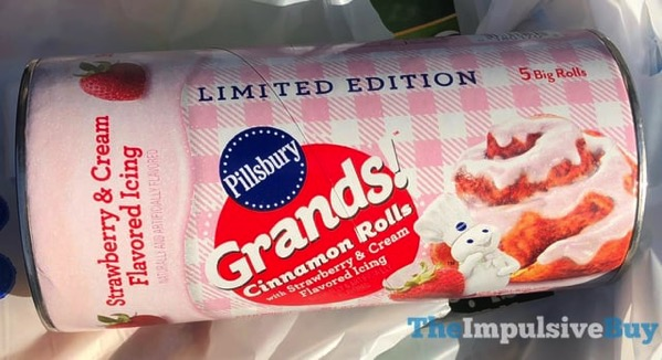 Pillsbury Limited Edition Grands Cinnamon Rolls with Strawberry  Cream Flavored Icing