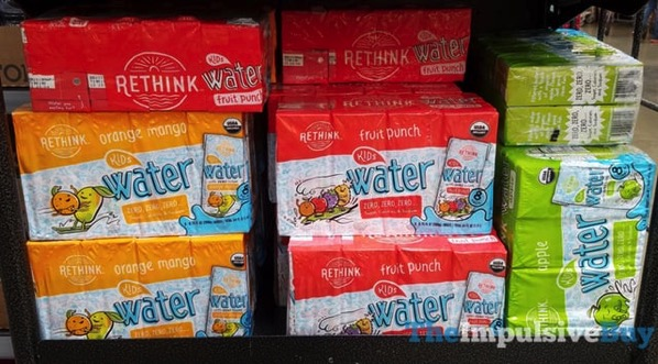 Rethink Kids Water  Orange Mango Fruit Punch and Apple
