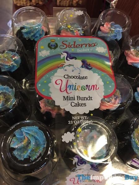 Siderno Bakery Chocolate Unicorn Mini Bundt Cakes