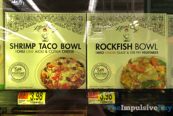 The Tattooed Chef Shrimp Taco Bowl and Rockfish Bowl