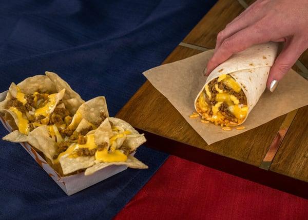 Triple Melt Nachos Burrito
