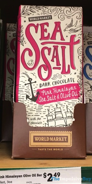 World Market Sea Salt Dark Chocolate Pink Himalayan Sea Salt  Olive Oil Bar