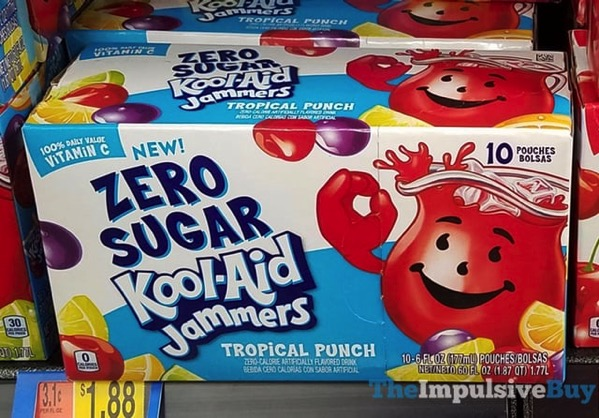 Zero Sugar Kool Aid Jammers Tropical Punch