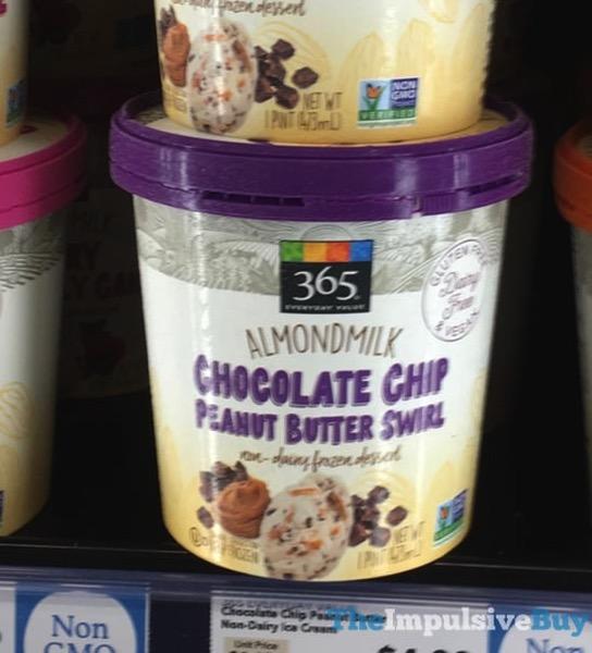 365 Everyday Value Almondmilk Chocolate Chip Peanut Butter Swirl Non Dairy Frozen Dessert