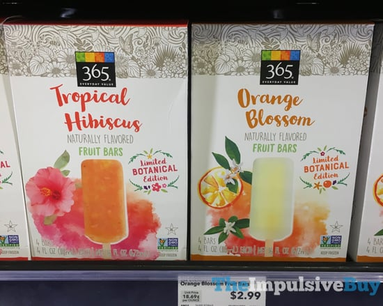 365 Everyday Value Limited Botanical Edition Tropical Hibiscus and Orange Blossom Fruit Bars