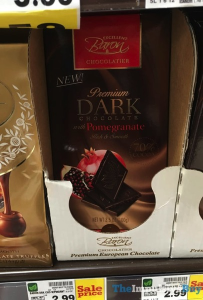 Baron Chocolatier Premium Dark Chocolate with Pomegranate