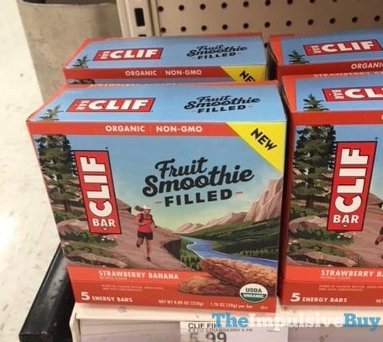 Clif Bar Fruit Smoothie Filled Strawberry Banana Energy Bars