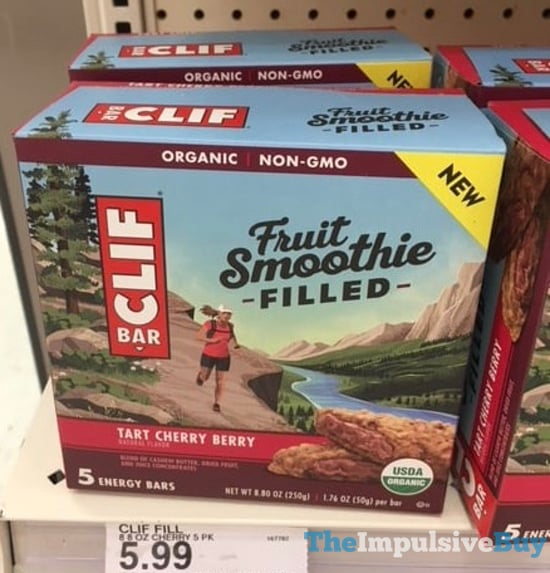 Clif Bar Fruit Smoothie Filled Tart Cherry Berry Energy Bars
