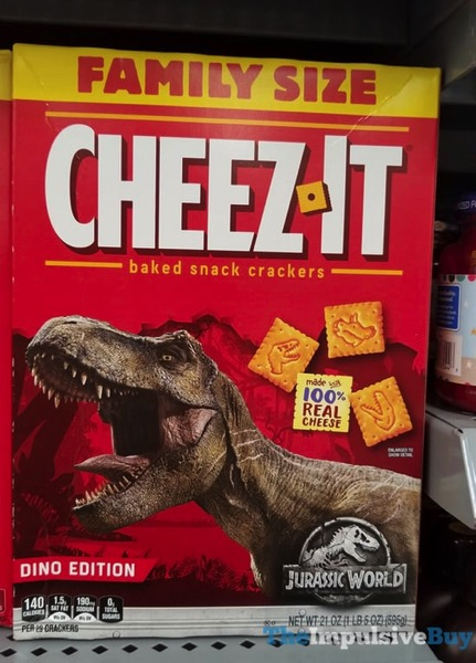 Dino Edition Jurassic World Cheez It Crackers
