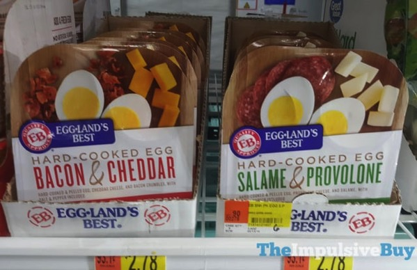 Eggland s Best Hard Cooked Egg Bacon  Cheddar and Salame  Provolone
