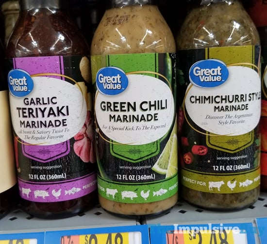Great Value Garlic Teriyaki Green Chili and Chimichurri Style Marinades