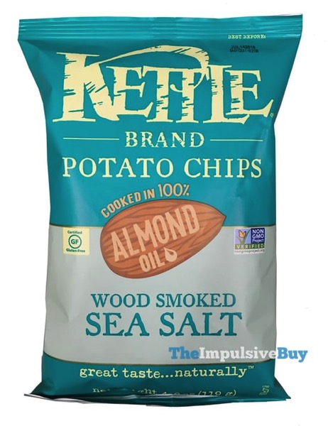 Kettle Brand Cooked in 100 Almond Oil Wood Smoked Sea Salt Potato Chips