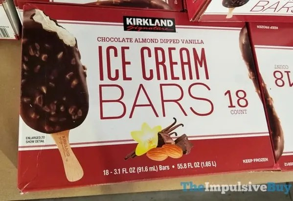 Kirkland Signature Chocolate Almond Dipped Vanilla Ice Cream Bars