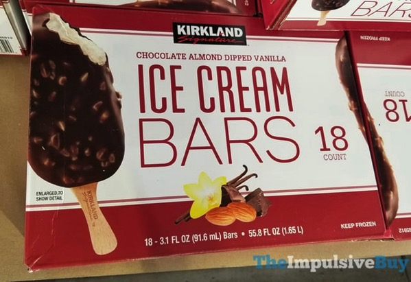 Kirkland Signature Chocolate Almond Dipped Vanilla Ice Cream Bars