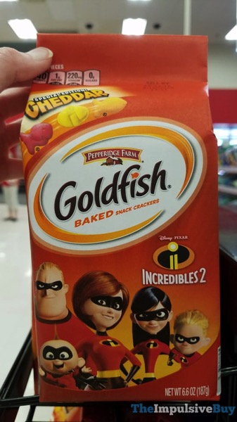 Pepperidge Farm Special Edition Cheddar Incredibles 2 Goldfish Crackers