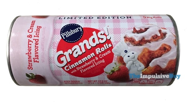 Pillsbury Grands Cinnamon Rolls Strawberry Cream