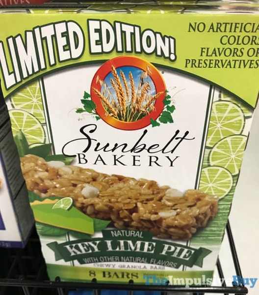 Sunbelt Bakery Limited Edition Key Lime Pie Chewy Granola Bars