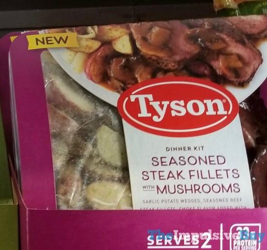Tyson Seasoned Steak Fillet with Mushrooms Entree Kit