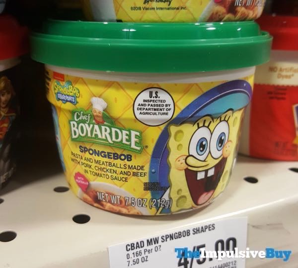 Chef Boyardee Spongebob Shapes with Meatballs