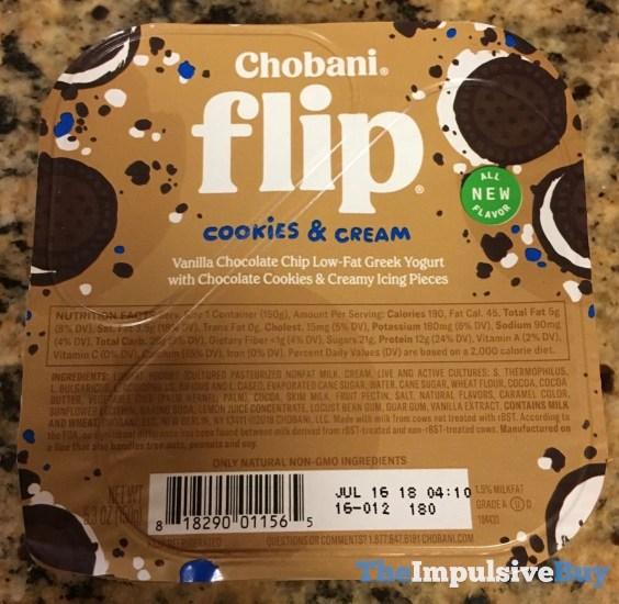 Chobani Flip Cookies  Cream Greek Yogurt