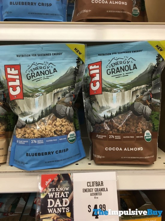 Clif Energy Granola  Blueberry Crisp and Cocoa Almond