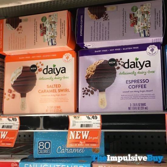 Daiya Salted Caramel Swril and Espresso Coffee Bars