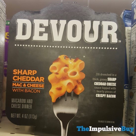 Devour Sharp Cheddar Mac  Cheese with Bacon