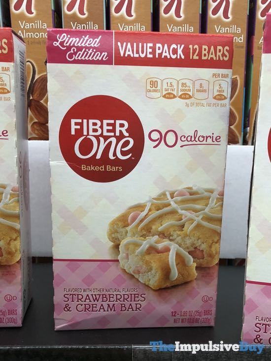 Fiber One Limited Edition Strawberry  Cream Baked Bars