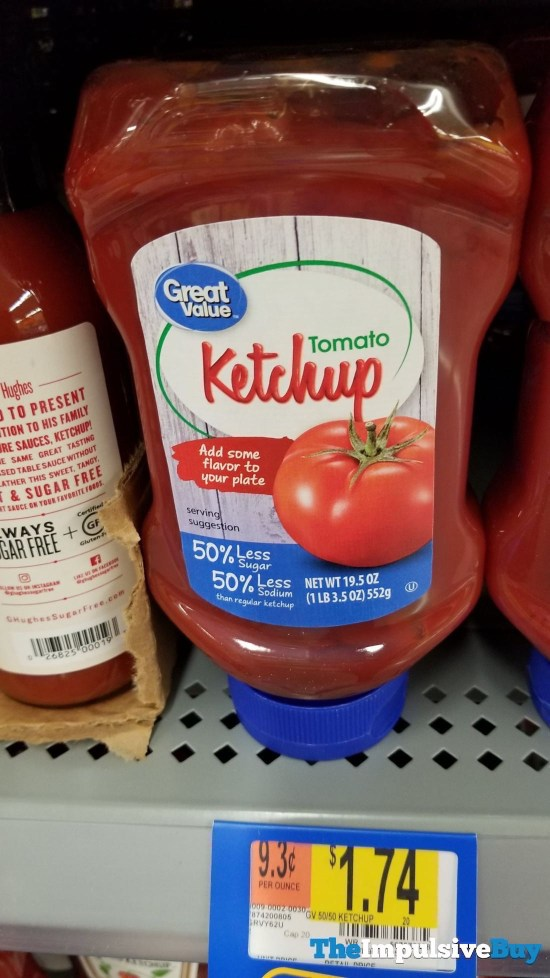 Great Value Tomato Ketchup with 50 Less Sugar and 50 Less Sodium